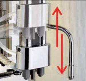 Регулювання носика подачі напоїв WMF Presto Регулирование комбинированного стока по высоте